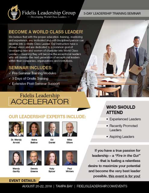 Fidelis Leadership Group presents Fidelis Leadership Accelerator with Dr. Wendy Arnold